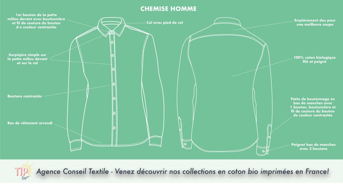 Chemises en coton bio