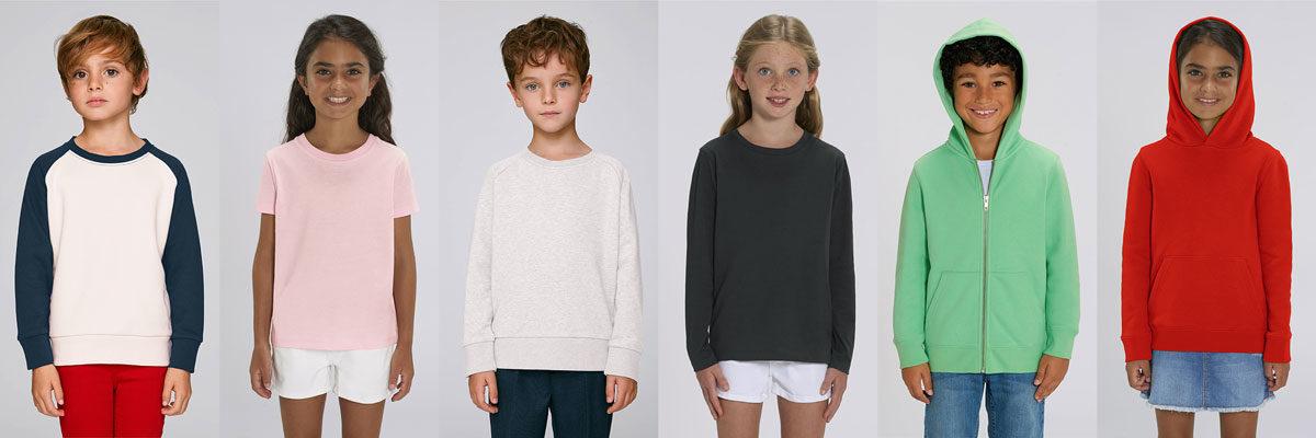 Collection textile bio enfants